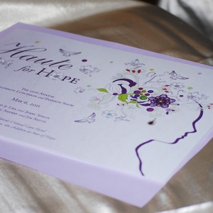 Haute for Hope Invitation Design for Star of Hope