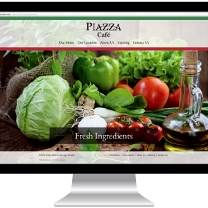Website Design for Piazza Cafe