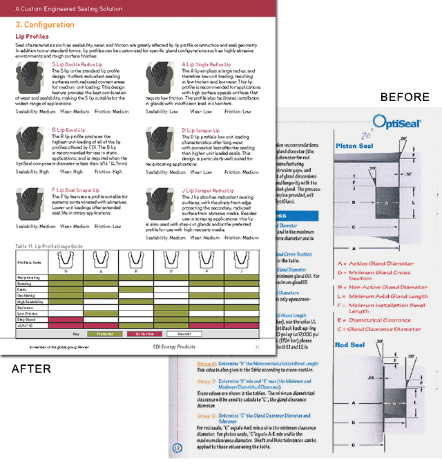 OptiSeal Brochure Before and After