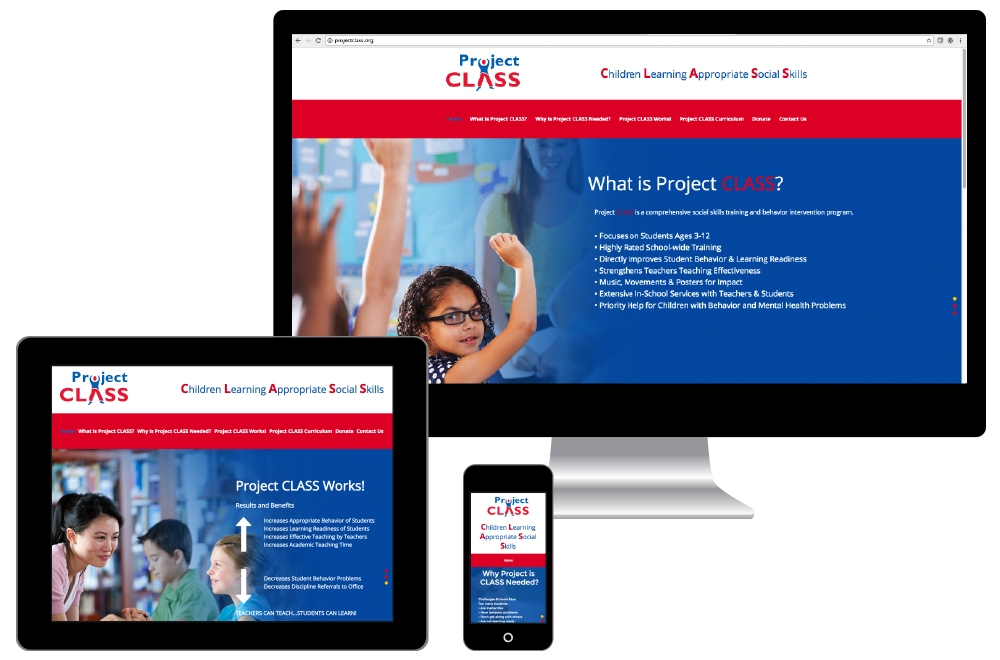 Project CLASS custom responsive website design