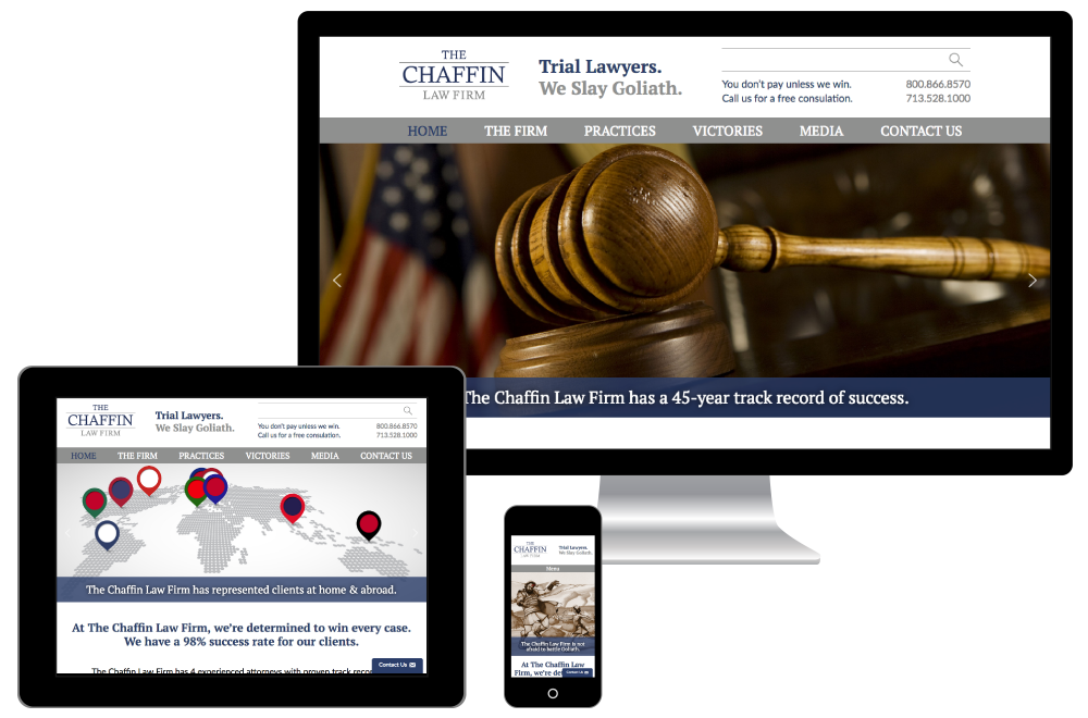 The Chaffin Law Firm new responsive website